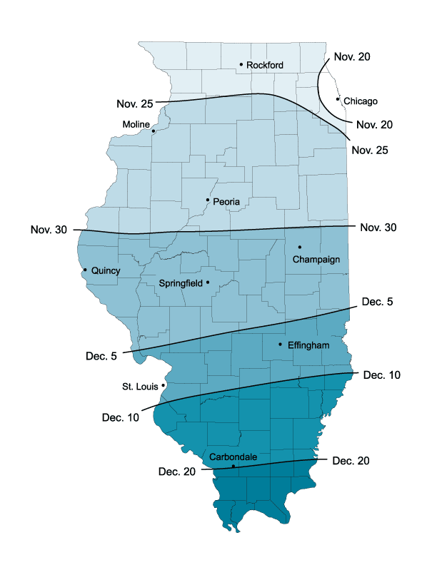 State Climatologist Releases Average Dates of First Snowfall in the State