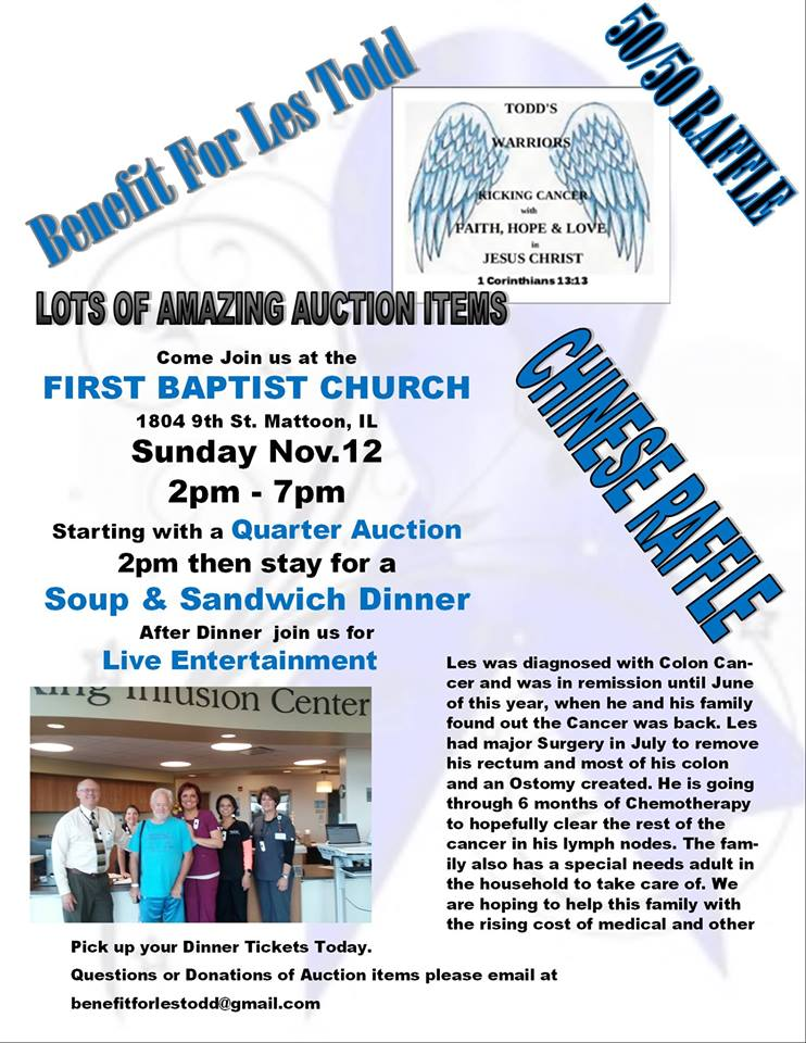 Benefit for Les Todd to be Held This Sunday, November 12
