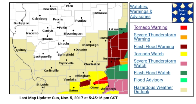 Tornado Warning in Effect for Crawford, Lawrence, and Richland Counties