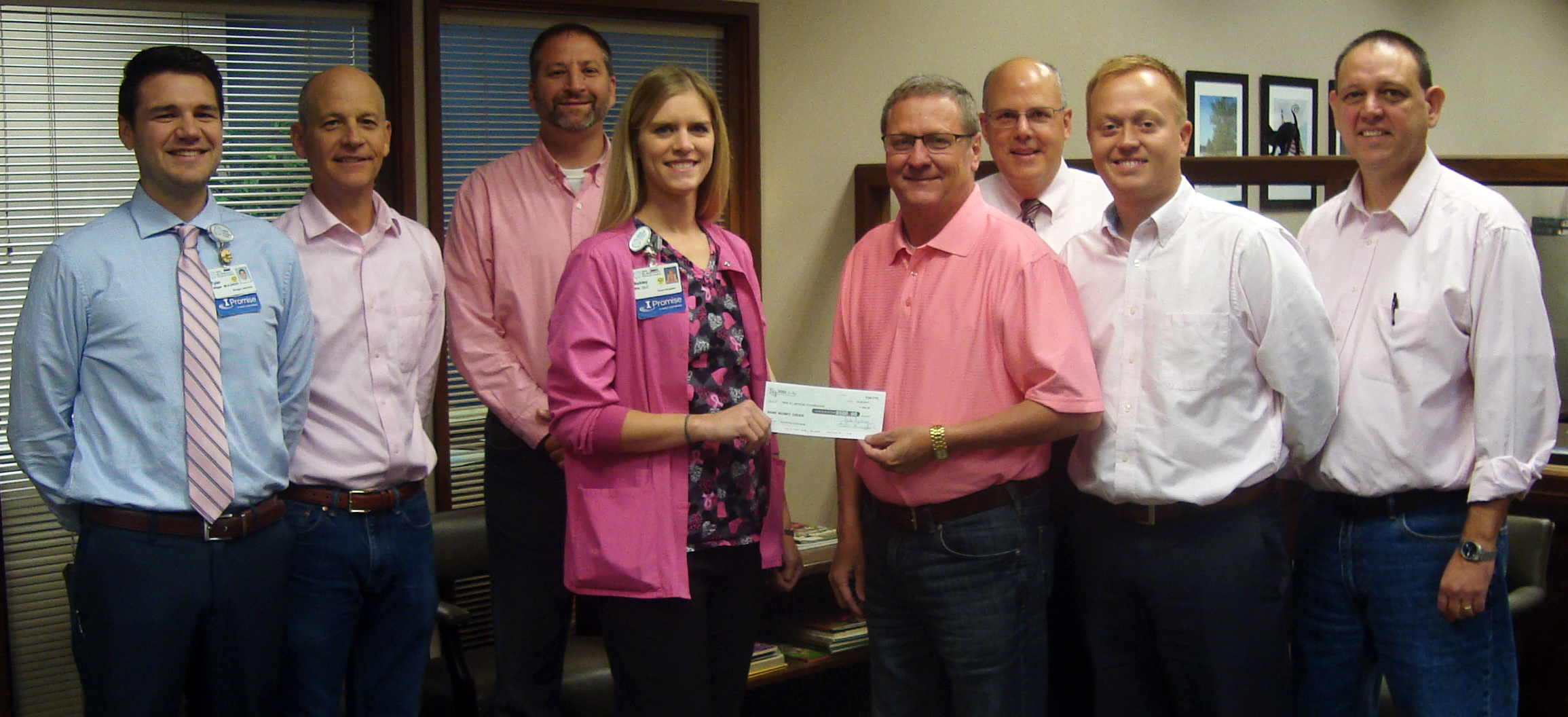 HSHS St. Anthony's Foundation Receives Donation From Teutopolis State Bank in Honor of Breast Cancer Awareness