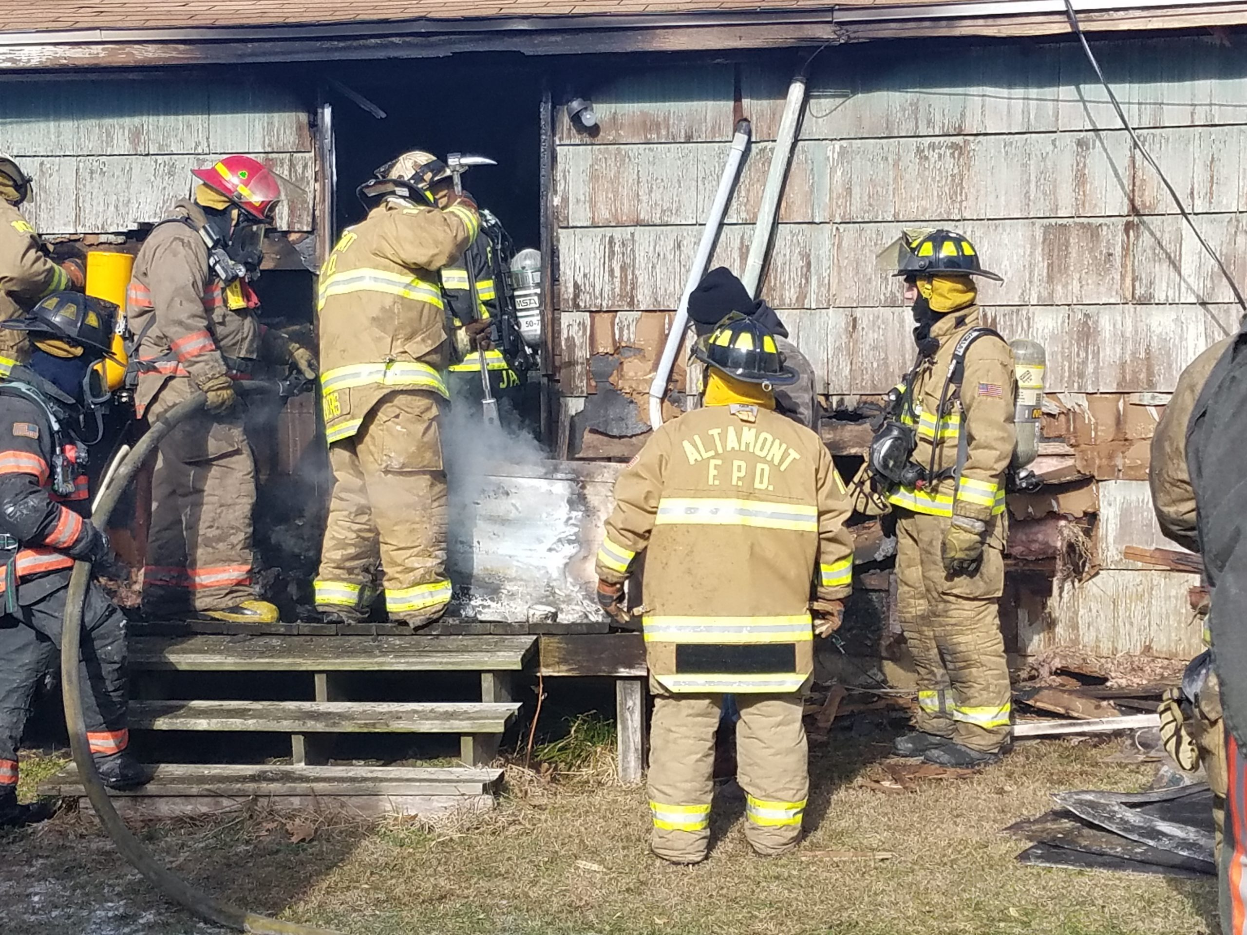 Structure Fire in Altamont Causes Approximately $30,000 in Damage
