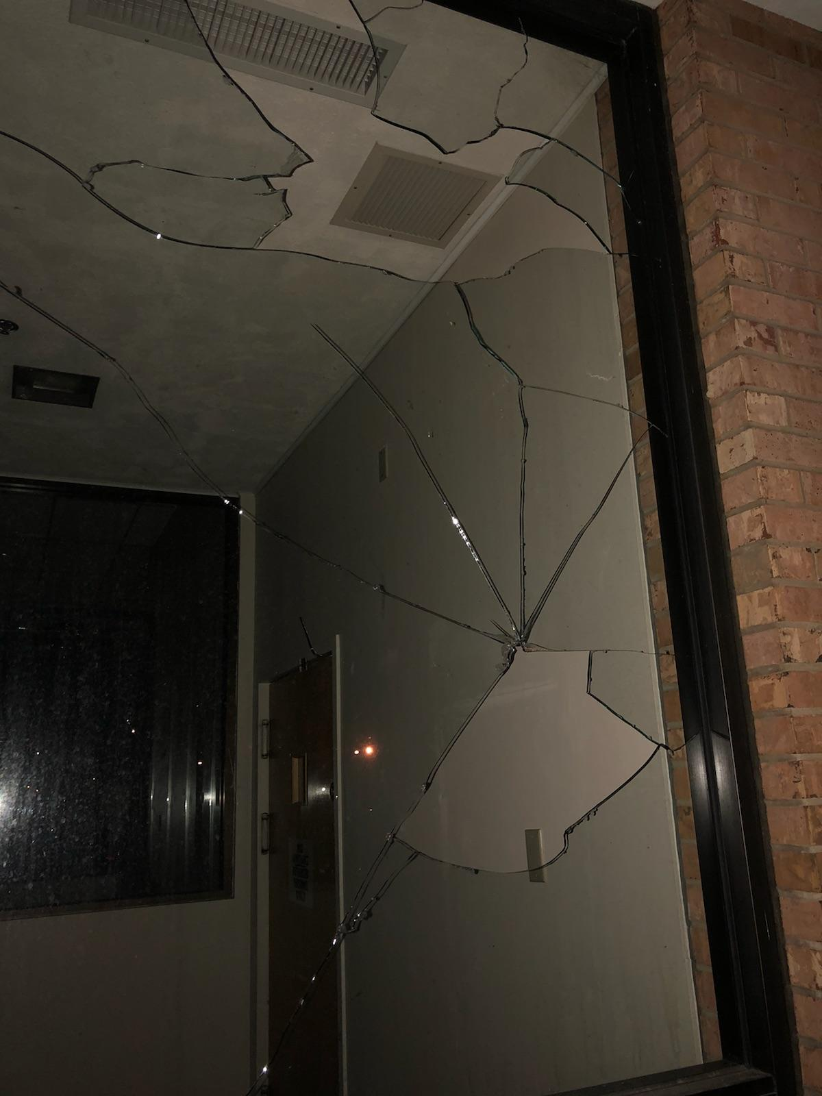 Vandals Break Glass at Old JCPenney's Location at Village Square Mall