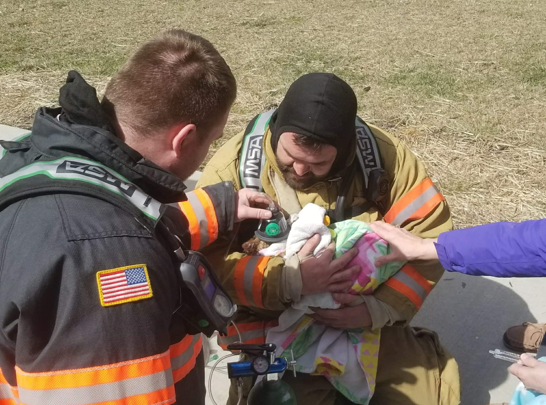 First Responders Save Kitten During Residential Fire