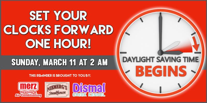 Daylight Saving Time Reminder - March 11