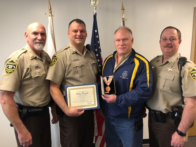 Effingham County Sheriff's Deputy Given Meritorious Service Award from the Illinois Fraternal Order of Police