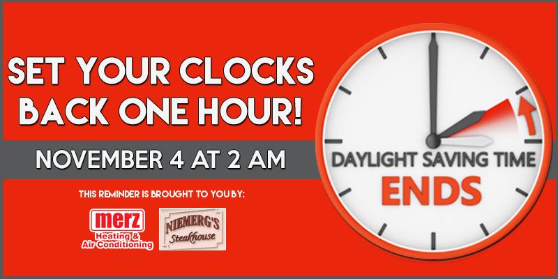 Daylight Saving Time Reminder
