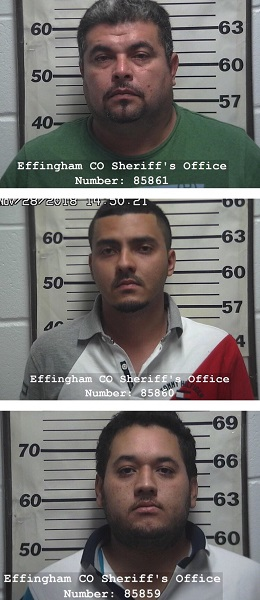 Effingham County Sheriff's Office Arrests Three/Seizes 65