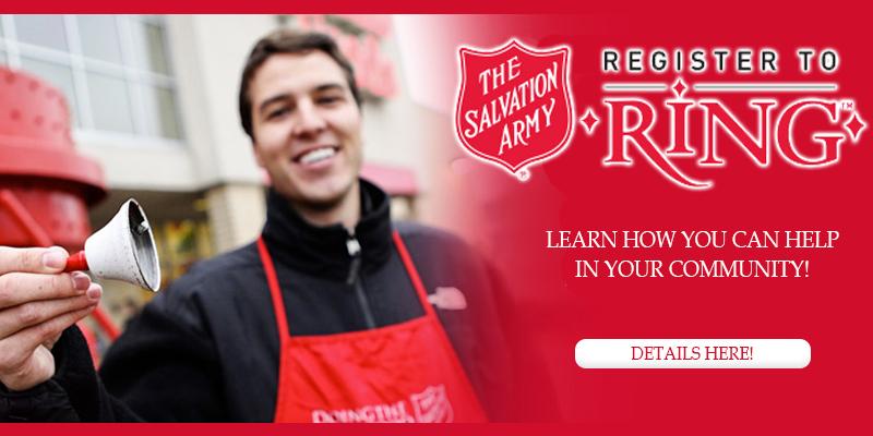 Salvation Army: Bell Ringing Volunteers Needed