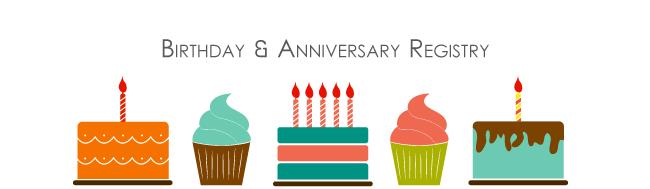 Anniversary & Birthday Registry
