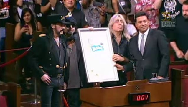 Motorhead Was Honored by Los Angeles City Council For 40 Years!