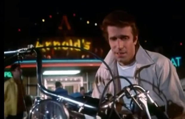 Own Fonzie's Motorcycle Or Jacket From The TV Show HAPPY DAYS