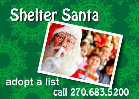 Shelter Santa Delivery To Be Made Monday