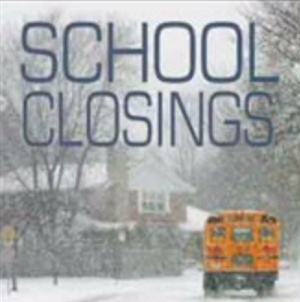 School Closings For Tuesday 1/12/16