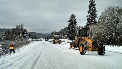 Snow Plow Operator Dies On The Job
