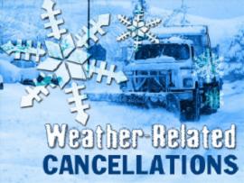Church Cancellations Jan. 10th, 2016