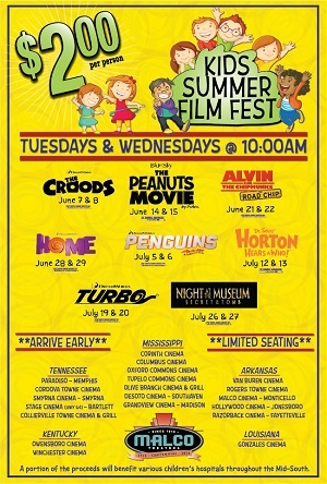 Kids Summer Film Fest Starts June 7th At The Malco Cinema 16 In Owensboro!