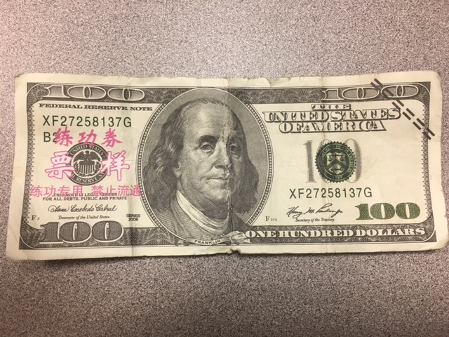 OPD Investigating Counterfeit Money