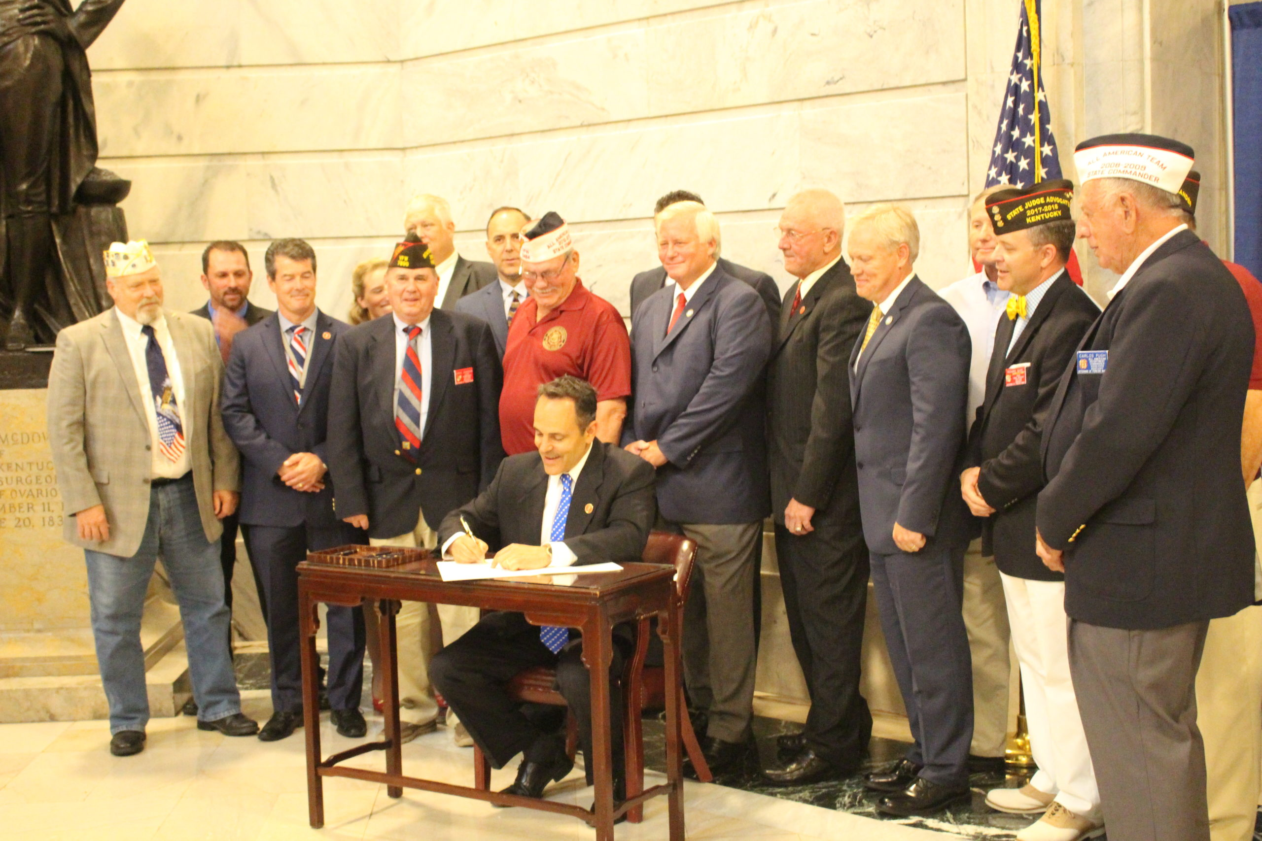 Governor Bevin Signs Rep. DJ Johnson's First Piece of Legislation Into Law