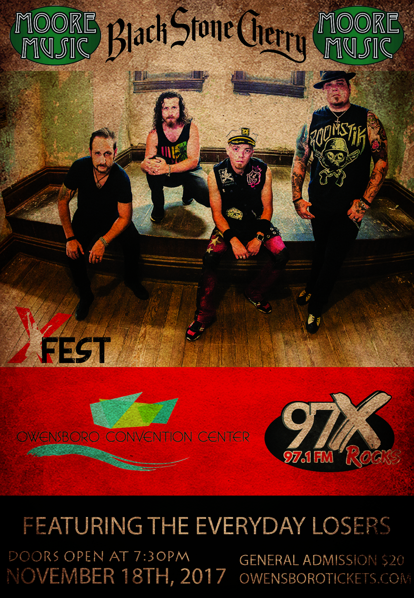Black Stone Cherry Is Ready To Rock XFEST November 18th