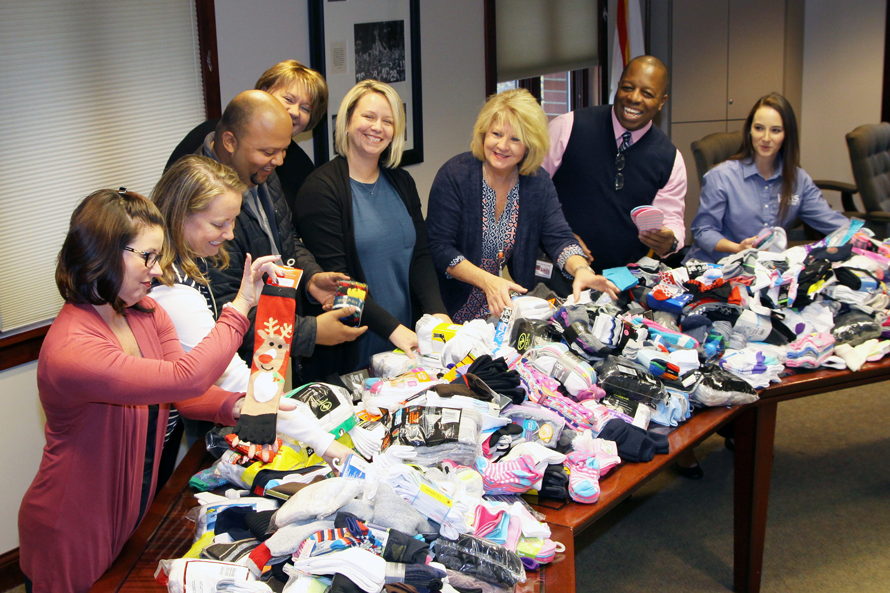 "DCPS/Kenergy ""Sock-tober"" Campaign Warms Feet & Hearts"