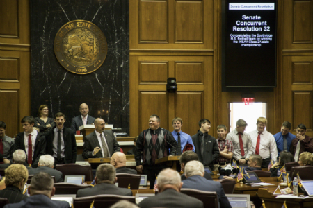Southridge Football Team Honored at Statehouse