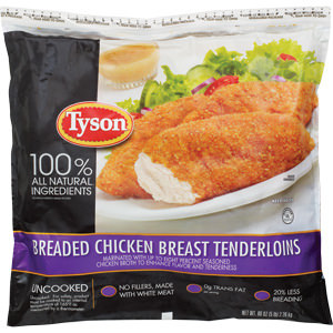 Tyson Recalls Breaded Chicken Product