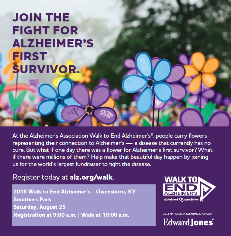 Owensboro's Walk To End Alzheimer's Is August 25th