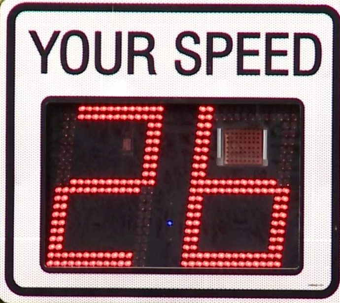 Tell City Portable Speed Signs Encouraging Safe Driving