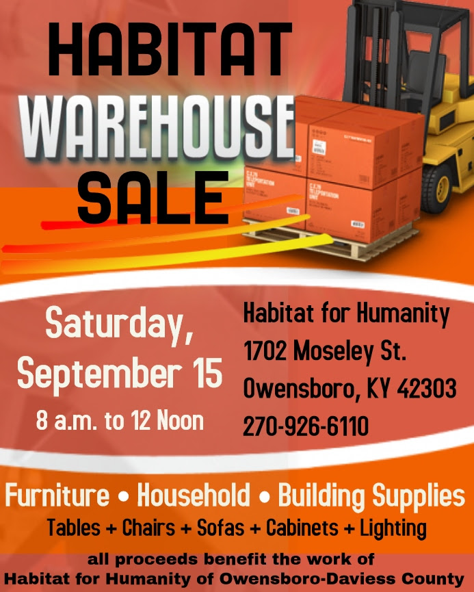 Habitat Warehouse Sale Benefit