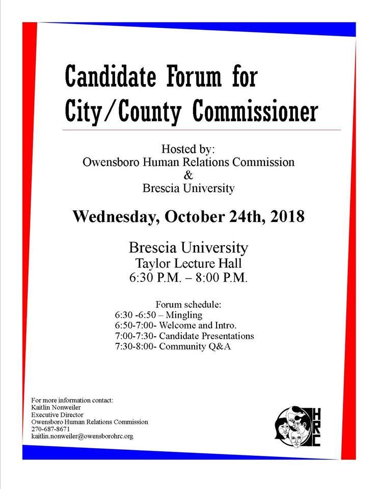Candidate Forum At Brescia Tonight