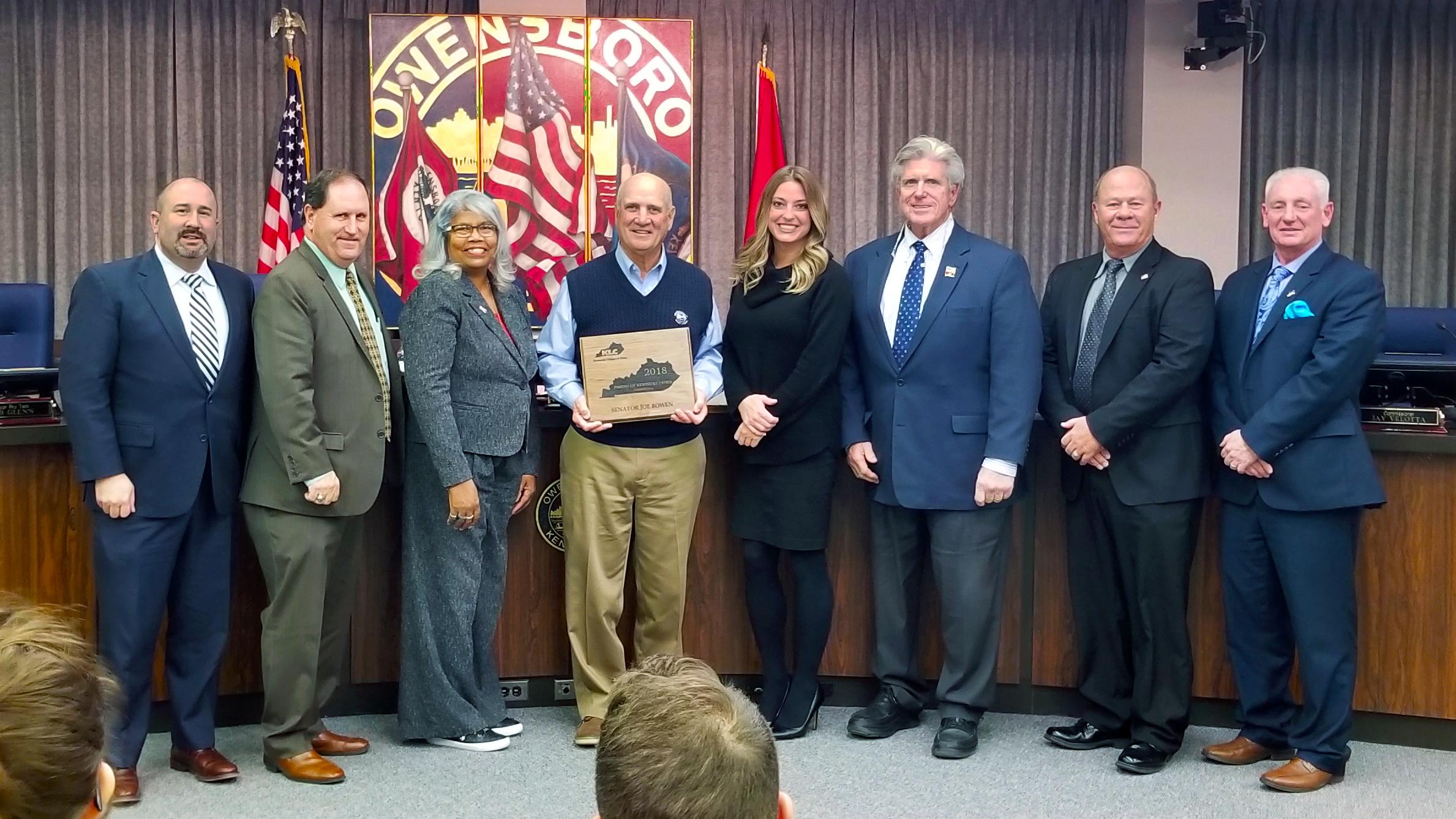 """Kentucky League of Cities Recognizes Senator Joe Bowen as 2018 """"Friend of Kentucky Cities"""""""