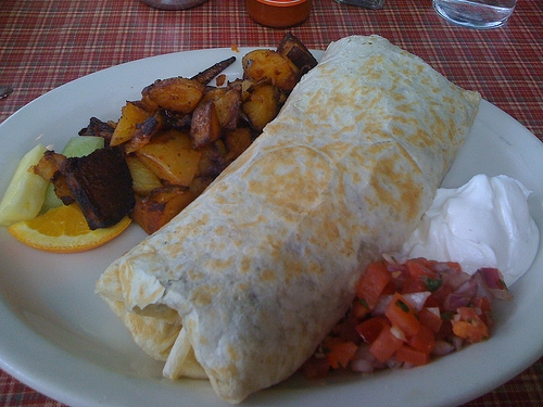 Woman Attacks Husband with a Burrito Because He Cooked Potatoes for Dinner
