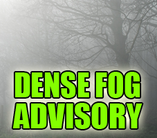 Dense Fog Advisory Issued