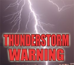 Severe Thunderstorm Warning until 3pm