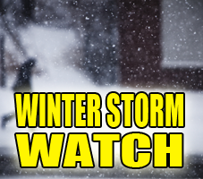 Winter Storm Watch Extended into Several Counties