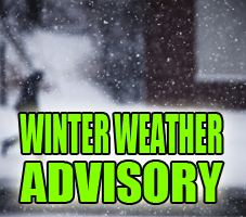 Winter Weather Advisory for Illinois Counties, Beginning Thursday Morning