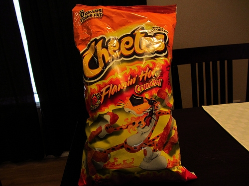 A Guy Steals Flamin' Hot Cheetos, Then Tries Setting the Place on Fire