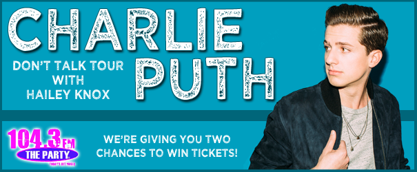 Charlie Puth Ticket Giveaway!