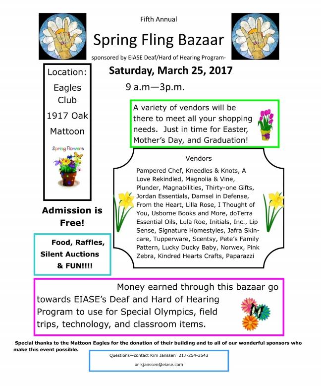 Spring Fling Bazaar Tomorrow!