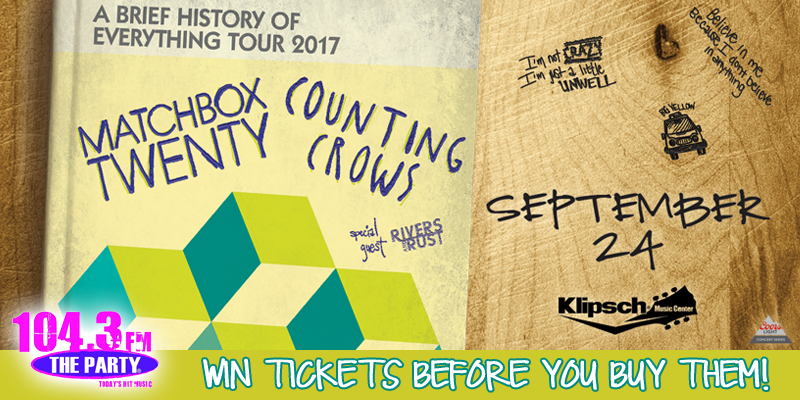 Matchbox Twenty and Counting Crows - Ticket Giveaway