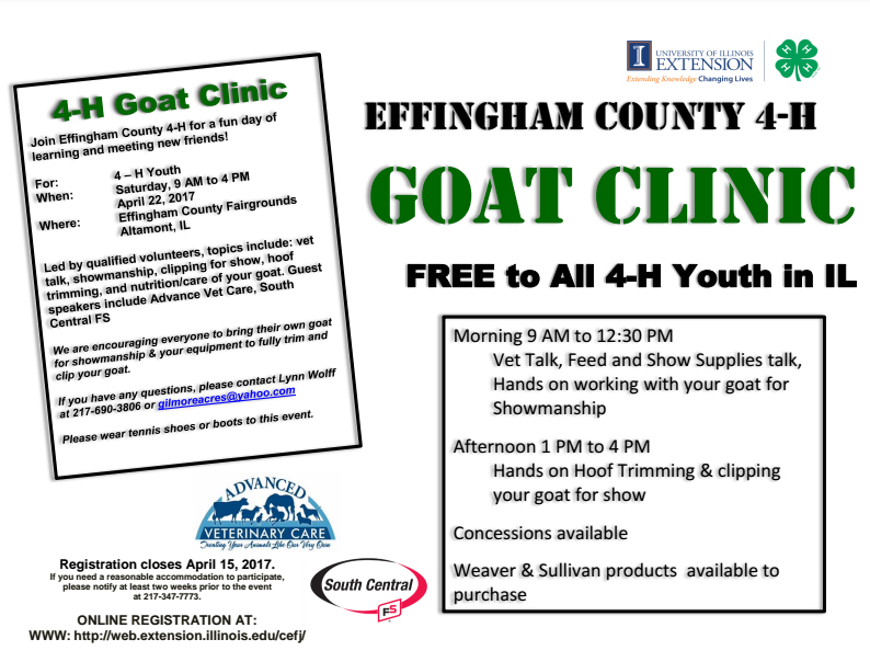 Effingham 4-H Goat Clinic
