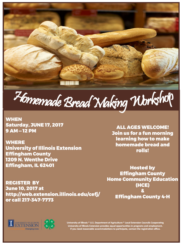 Homemade Break-Making Workshop in Effingham