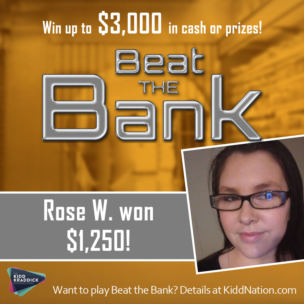 Two Cash Winners This Morning on Beat the Bank- Including Rose of Decatur, Illinois