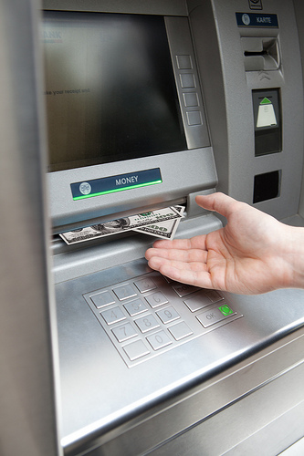 """A Repairman Stuck Behind an ATM Slips a Note Through the Receipt Slot That Says, """"Help. I'm Stuck in Here"""""""