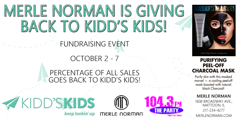 Merle Norman Promotion to Benefit Kidd's Kids