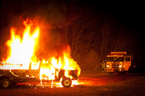 Two Car Fires At the Same Scene in Champaign