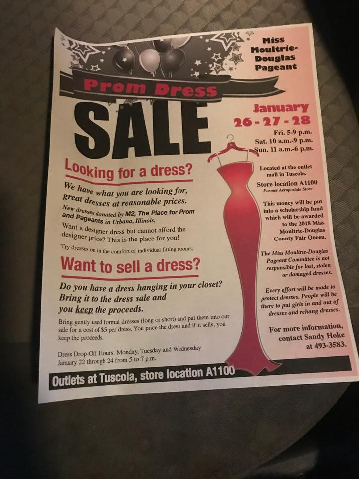 Moultrie-Douglas Pageant Committee Prom Dress Sale