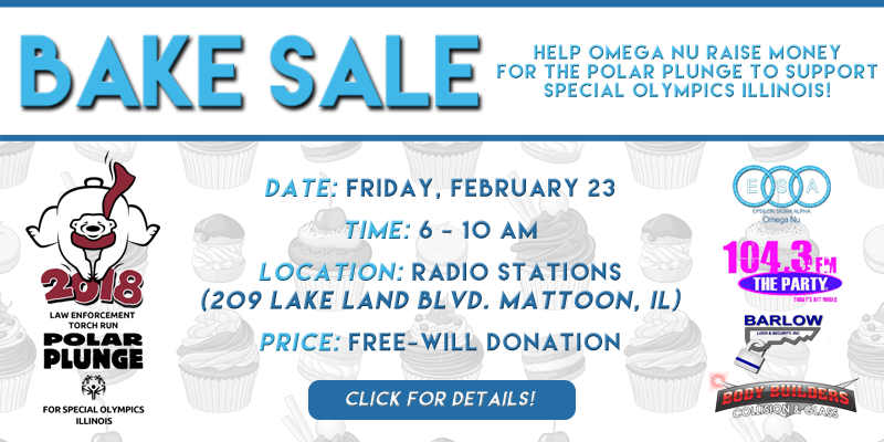 Omega Nu Bake Sale Benefiting Party Polar Plunge Team
