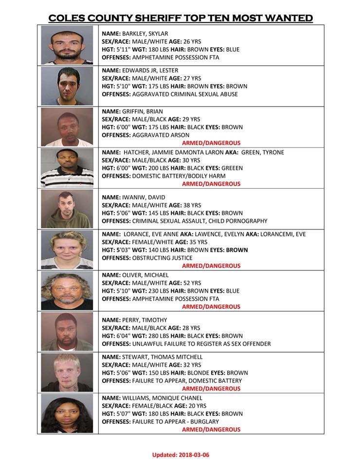Coles County Most Wanted