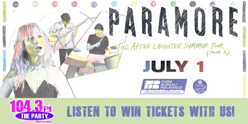 Listen to Win Paramore Tickets!